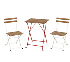 IKEA TRANO 3 PIECE FOLDING METAL OUTDOOR GARDEN PATIO FURNITURE TABLE & CHAIRS