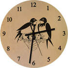 'Birds In A Nest' Printed Wooden Wall Clock (CK004490)
