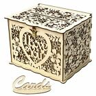 Wooden Card Box Rustic Wedding Card Storage Box Gift Card Holder Box with Lock
