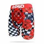 PSD Underwear Men's Red Roses with Checkers Boxer Brief Red