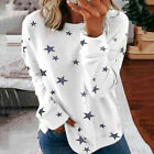 Womens Long Sleeve Jumper Tops Ladies Star Printed Loose Casual Pullover Blouse <br/> ❤ New For 2020 ❤ UK Local Seller ❤ Fast & Free Ship