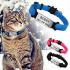 Breakaway Personalized Cat Collar  ID Tag  Bell Quick Release for Kitten