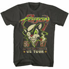 Poison US Tour 86 87 T Shirt Mens Licensed Rock N Roll Band Tee Retro New Black image