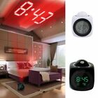 Multifunction Vibe LCD Talking Projection Alarm Clock Time amp Temp Display New