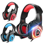 3.5mm Gaming Headset Mic LED Headphones Stereo Surround for PC PS5 Xbox ONE 360E