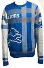 Forever Collectibles NFL Men's Detroit Lions Plaid Crew Neck Sweater $39.99 USD on eBay