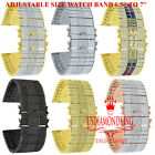 High Quality Baguette Simulated Diamond 14K Gold Finish Watch Band Bracelet 24mm image