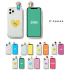 Official BTS Figure Clear Soft Jelly Phone Case Cover 2nd Ver+Free Gift Kpop