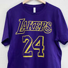 Los Angeles Kobe Bryant Lakers Jersey #8 #24 Black Mamba Out Unisex T-Shirt image