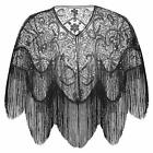 BABEYOND 1920s Shawl Wraps Gatsby Beaded Evening Cape Bridal Shawl for Evening D