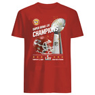Men's Super Bowl LIV 2020 Champions Kansas City Chiefs RED And Black T-shirt $10.99 USD on eBay