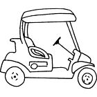 'Golf Buggy' Rubber Stamp (RS021359)