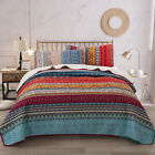 Lightweight Ethic Printed Warm Soft Bedspread Coverlet Set Queen King Bedding image