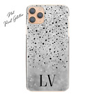 Initial Phone Case, Personalised Name on Blue Marble Hard Cover For Sony Xperia