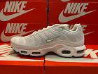 Nike Air Max Plus TN Tuned 1 TRIPLE WHITE Cool Grey 604133-139 Men's DOUBLE BOXD