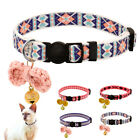 Embroidery Safety Quick Release Breakaway Cat Collar for Pets Kitten with Bell