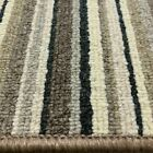 Stripe Carpet Brown Hard Wearing Oxford Striped £9.50 sqm 4m x Any Length NEW