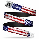 Mustang Seatbelt Belts - Patriotic Designs - Get Free Shipping to All Of The USA
