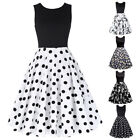 Dress Evening Summer Retro Housewife Vintage Womens Party A-line Swing 1950s