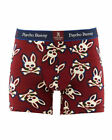 Psycho Bunny, Logo Pattern Pouch Stretch Knit Boxer Brief (Choose Size, Pattern)