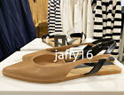 ZARA NEW WOMAN FLAT SLINGBACK SHOES NATURAL 35-42 2500/510