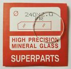 Quality Watch Glass Mineral Crystal Face Flat Round 2mm Thick, Ø 16.1mm to 45mm image