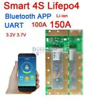 Smart BMS 4S 12V 100A 150A Lifepo4 iron li ion lithium battery protection board