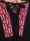 2X/3X OS Plus New Embroidered Black Top Kimono Beach Cover-up Cold Shoulder