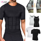 Shaper Men Body Toning T-Shirt Ultra Durable Vest Compression Shapewear Tops Gym image
