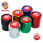 Hex For Red Toyota Emblem Car Wheels Tire Air Valve Caps Stem Dust Cover Sport $9.99 USD on eBay