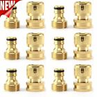 Garden Hose Quick Connector 3/4 Inch Ght Brass Female Male Connect Fitting Set