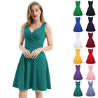 S-3XL Womens Vintage 1950s 60s Retro Style Swing Pin Up Dress Prom Party Dresses