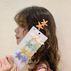 Girl Acrylic Crystal Starfish Hair Clips Hairpin Barrette Stick Hair Accessories