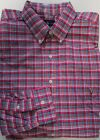 NWT Ralph Lauren Button Down Shirt Magenta Plaid TALL Sizes LT XLT