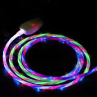 Fast Charging Cable LED Flowing Lightup USB Sync Cord Charger For iPhone Android