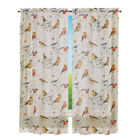 Semi Sheer Peaceful Bird Curtain