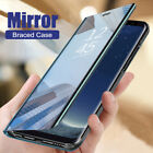For Huawei Y5 Y6S Y7 Y9 Prime 2019 Clear Mirror Leather Case Flip Stand Cover