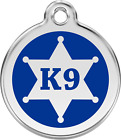 Kyпить Stainless Steel Red Dingo Sherriff Badge K-9 Blue ID Dog Tag Small Medium Large на еВаy.соm