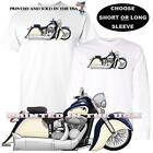 Indian Chief Vintage Motorcycle Blue / Ivory Cream DigiRods Art T Shirt