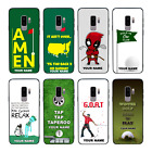 Personalised Golf Name Glass Case Back for Samsung Galaxy S8 S9 S10 EDGE PLUS