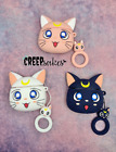 Luna Moon Kitty Airpod Case   Gerneration 1 and Gerneration 2 Airpod Case