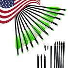12X 16/18/20/22'' Crossbow Bolts Aluminum Shaft Arrow Outdoor Hunting Archery US