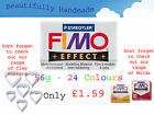 FIMO Effect 56g Polymer Clay 24 Colours Modelling Jewellery Craft 5.5cm x 5.5cm image