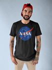 NASA Logo T Shirt Mens Space Astronaut Vintage Style Retro Classic Tee New Black image