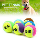 Coloured Tennis Balls Pet Puppy Play Dogs Toys Bouncing Training Ball UK