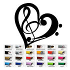 Bass Treble Clef Heart Vinyl Decal for Home Car Window Wall Bumper Music Words