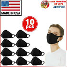 10PCS WASHABLE COTTON FACE MASK REUSABLE, BLACK, MADE IN USA, 10 PCS IN 1 PACK <br/> US Stock | Fast Shipping | Bulk Saving | 100% Cotton
