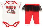 Outerstuff MLB Infants Cincinatti Reds Little Cutie Creeper & Tutu Leggings Set on Ebay