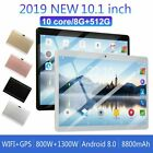 """10.1"""" Wifi Tablet Android 8.0 Pad 8+512gb Tablet Compute Gps Dual Camera Hd"""