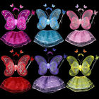WO_ AM_ EE_ NE_ COSPLAY PARTY CLOTHES FAIRY BUTTERFLY WING WAND HEADBAND TUTU SK